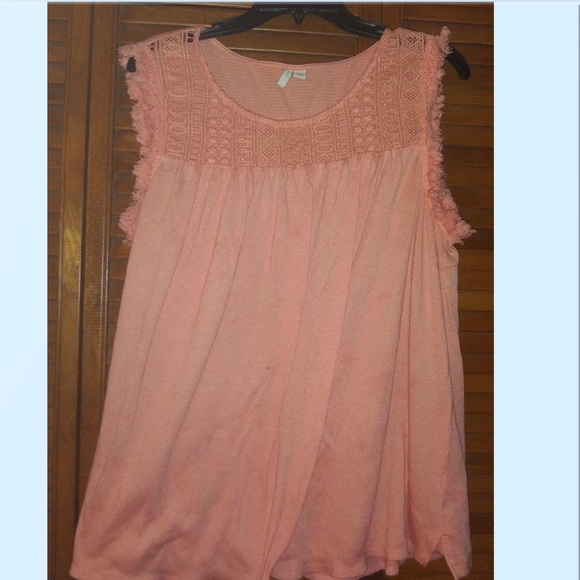 Peach sleeveless shirt